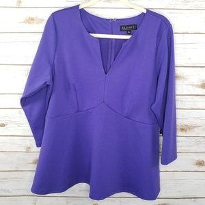 Eloquii purple empire flare top